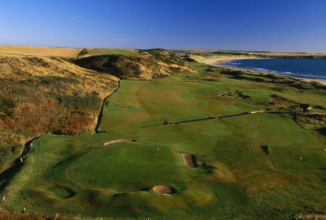 ABERDEENSHIRE - OCTOBER 1996:  General view taken during the Cruden Bay Golf Club photocall held in October 1996 at the Cruden Bay Golf Club, in Aberdeenshire, Scotland. (Photo by David Cannon/Getty Images)