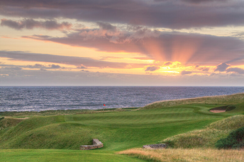 Kingsbarns 18th Green Sunrise HDR